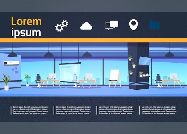 Coworking ruimte presentatie banner