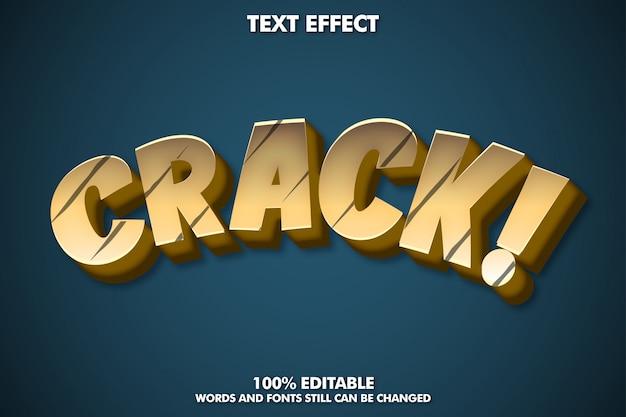 Crack teksteffect, cartoon lettertype-effect