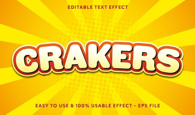 Cracker bewerkbaar teksteffect