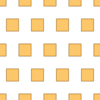Cracker koekjes naadloos patroon op een witte achtergrond. biscuit cookies thema vector illustratie
