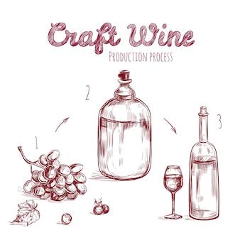 Craft drink hand getrokken concept