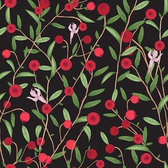 Cranberry naadloze patroon