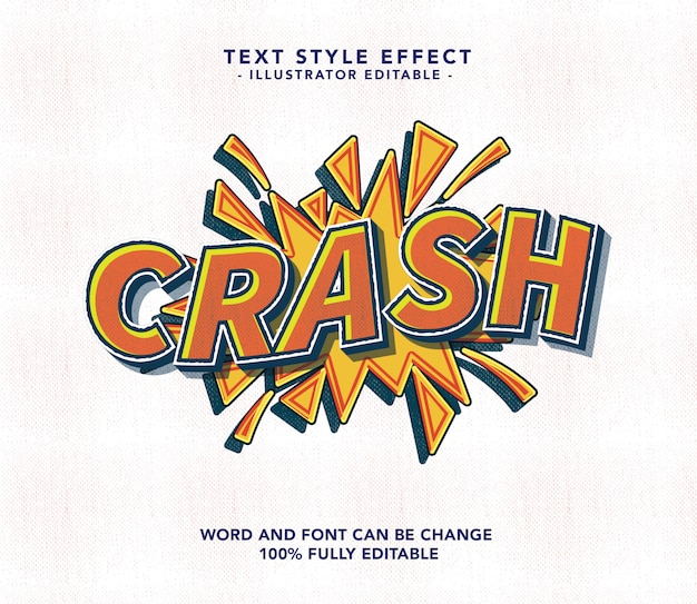 Crash lettertype