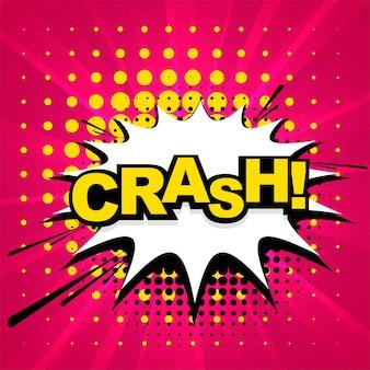 Crash stripverhaal cartoon kleurrijke achtergrond
