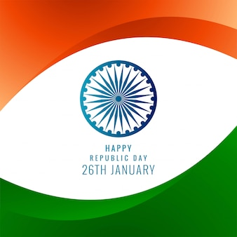 Crative indiase vlag stijlvolle golf