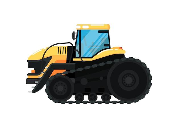 Crawler landbouw trekker illustratie