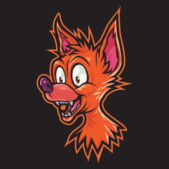 Crazy coyote esport logo afbeelding