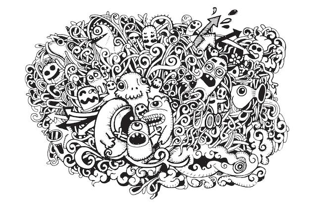 Crazy doodle monsters.