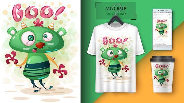 Crazy monsterposter en merchandising