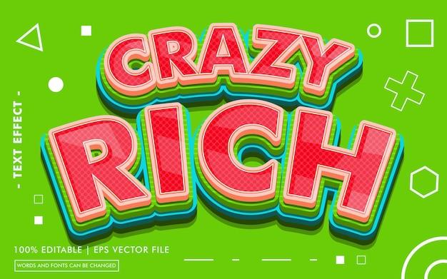 Crazy rich text effect-stijl