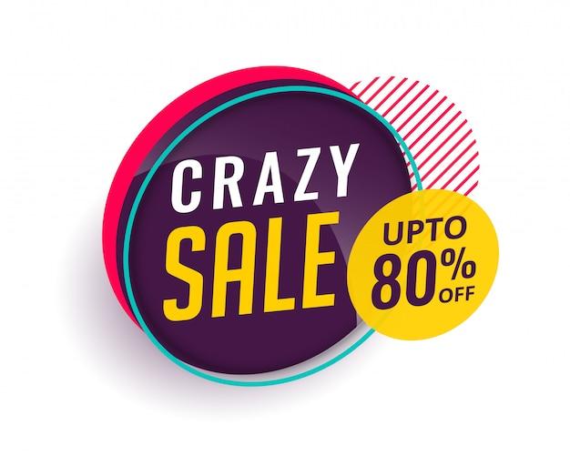 Crazy verkoop moderne banner