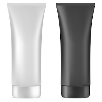 Cream tube. plastic cosmetische pakketblanco