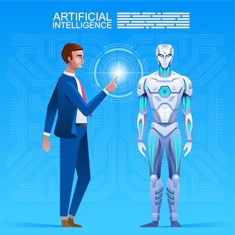 Creatie van de kunstmatige intelligentie.