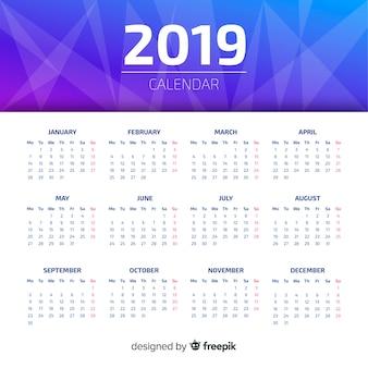 Creatief 2019 kalenderontwerp