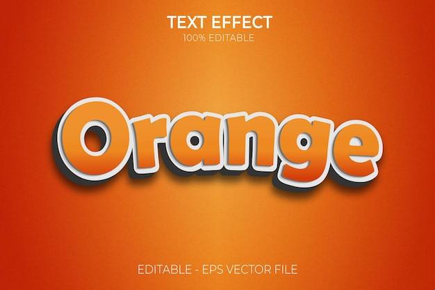 Creatief 3d modern bewerkbaar vet word oranje teksteffect tekststijl premium vector