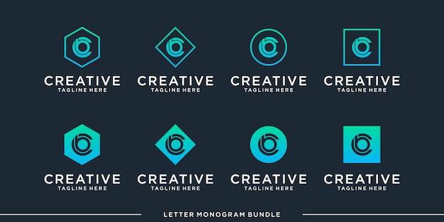 Creatief abstract aanvankelijk monogram