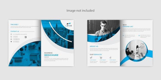 Creatief abstract tweevoudig brochureontwerp