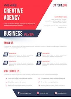 Creatief agentschap bedrijfsmalplaatje of vliegerlay-out.