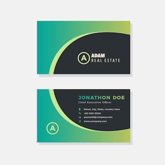 Creatief agentschap visitekaartje ontwerp