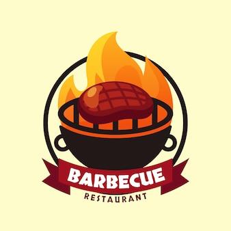 Creatief barbecue-logosjabloon met details