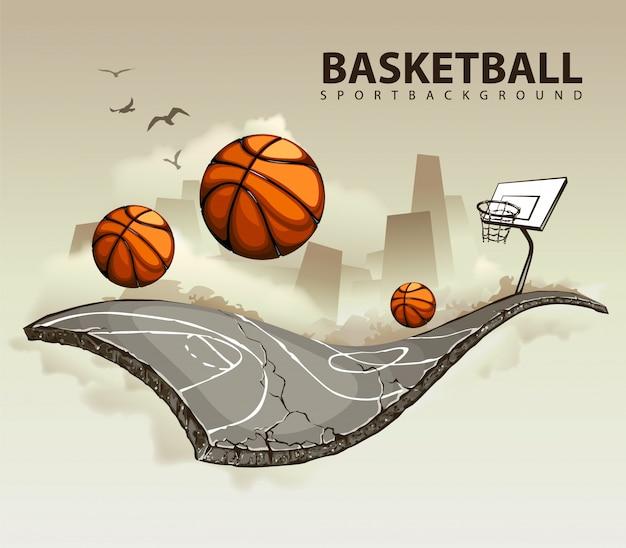 Creatief basketbalontwerp