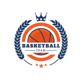 Creatief basketbalteam logo
