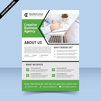 Creatief bedrijfsbureau flyer ontwerpsjabloon