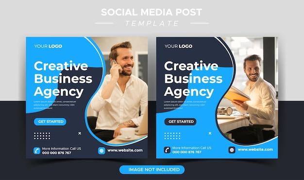 Creatief bedrijfsbureau instagram postsjabloon
