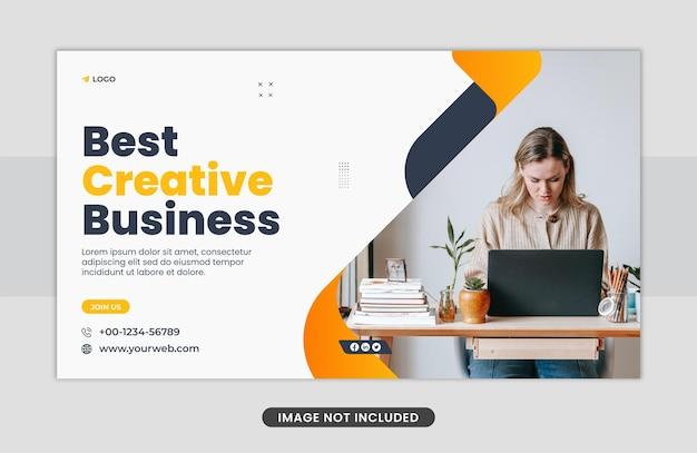 Creatief bedrijfsconcept webbanner sjabloonontwerp