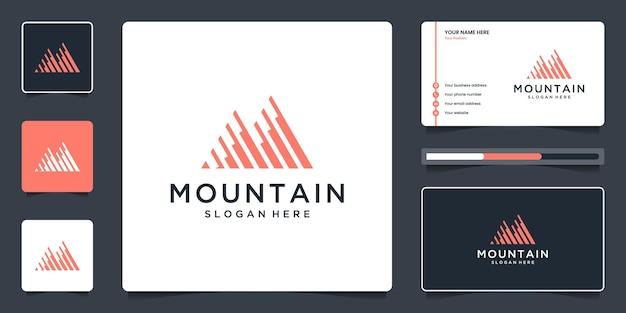 Creatief berglogo-ontwerpsymbool voor moderne marketing, analytisch, schaven.