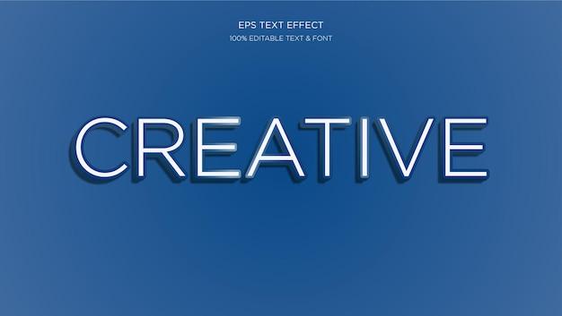 Creatief bewerkbaar teksteffect