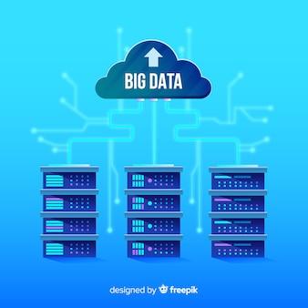 Creatief big data achtergrondontwerp