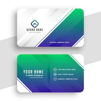 Creatief blauw bedrijf visitekaartje sjabloonontwerp
