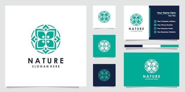 Creatief bloemlogo en visitekaartje logo