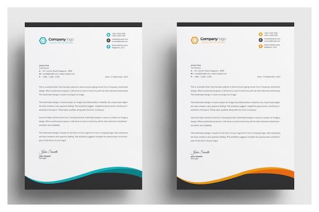 Creatief briefpapier template