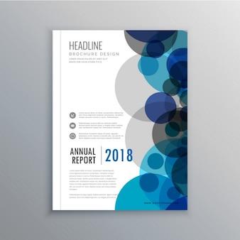Creatief brochure flyer ontwerpen met abstracte cirkels