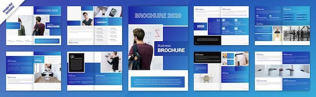 Creatief buiness tweevoudig brochureontwerp