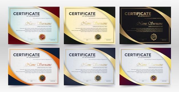 Creatief certificaat van waardering award sjabloon