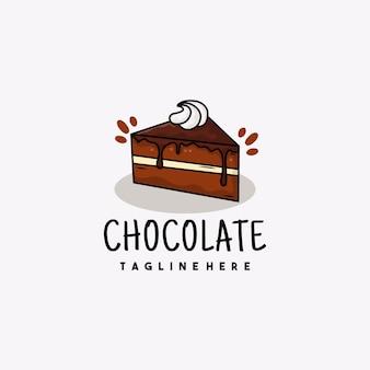 Creatief chocolade illustratie logo ontwerp