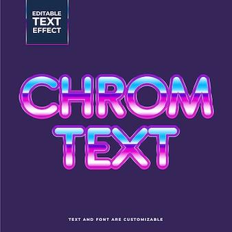 Creatief chrom-teksteffect