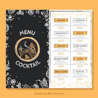 Creatief cocktailmenu