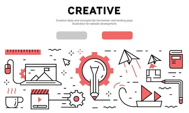 Creatief concept infographic