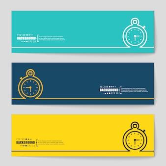 Creatief concept vector banner.
