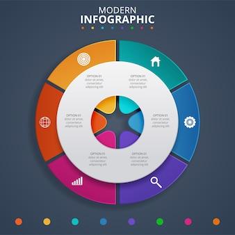 Creatief concept voor de infographic. vector illustratie Premium Vector