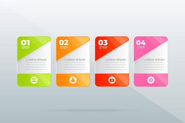 Creatief concept voor infographic bedrijfsgegevensvisualisatie