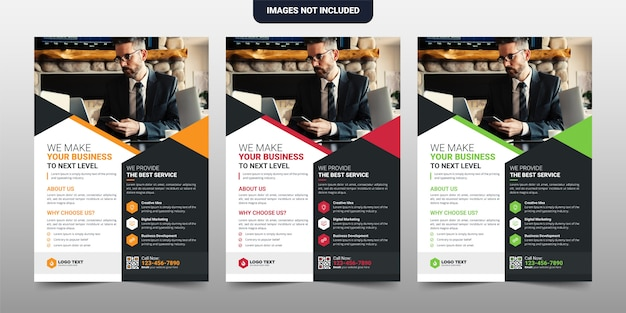 Creatief corporate & business flyer-sjabloonontwerp