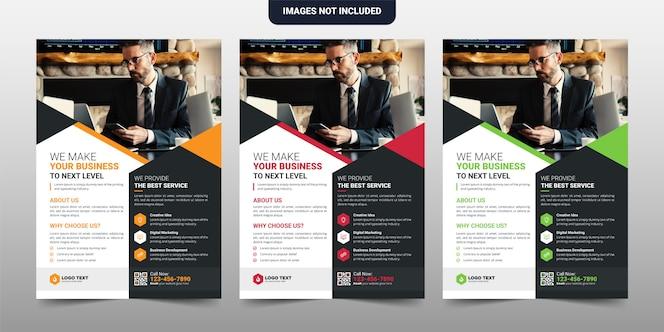 Creatief corporate & business flyer-sjabloonontwerp