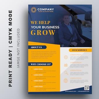 Creatief corporate flyer-sjabloon