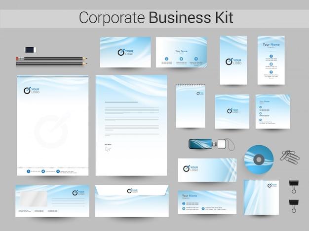 Creatief corporate identity of business kit design.