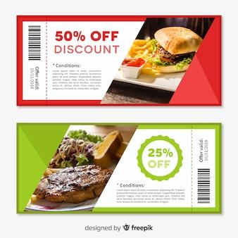Creatief coupon sjabloonontwerp